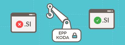 Prenos .SI domen sedaj le še z EPP kodo