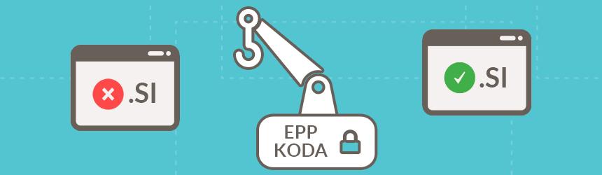 Prenos .SI domen z EPP kodo