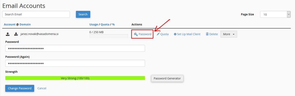 Spremeni geslo / Change Password