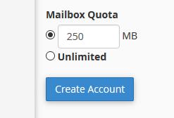 Velikost e-poštnega predala / Mailbox Quota