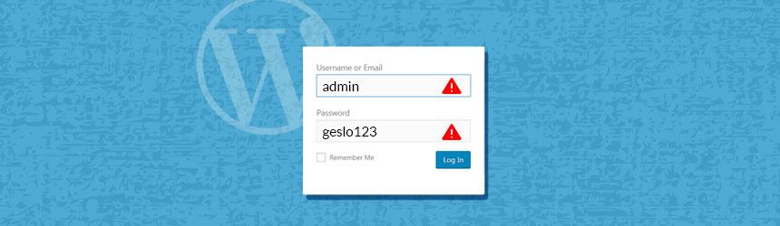 Varno uporabniško ime in geslo