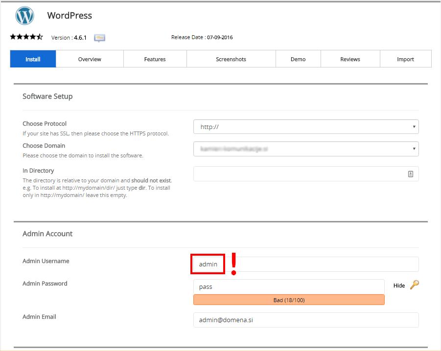 Spremenite privzeto uporabniško ime