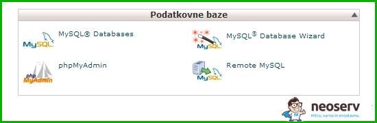 MySQL podatkovne baze