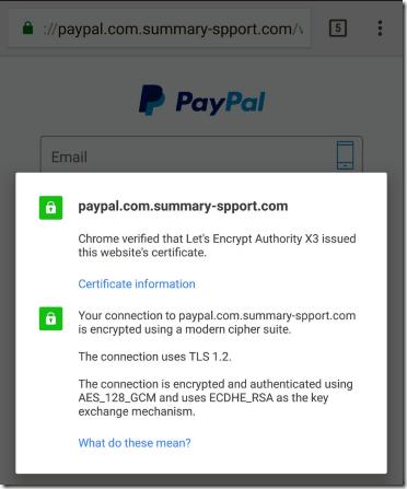 Podrobnosti Let's Encrypt certifikata