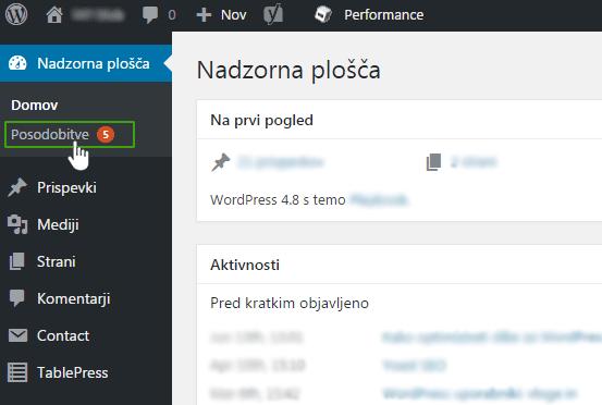 Posodobitev WordPressa