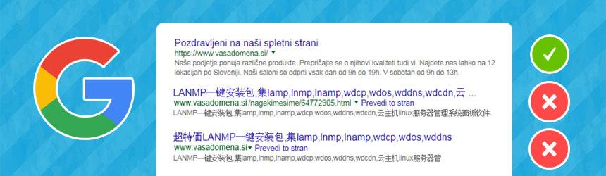 Kako iz Googla odstraniti okužene povezave