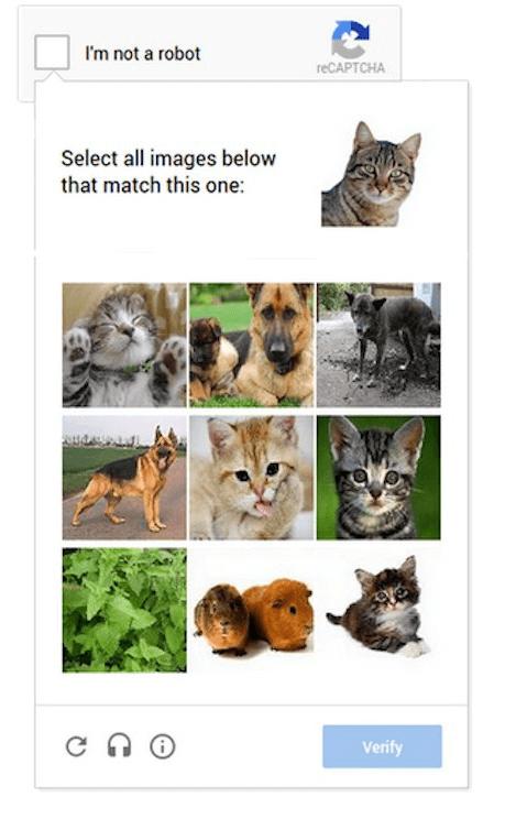 reCAPTCHA test - prepoznaj elemente na sliki