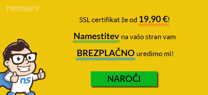 Brezplačna namestitev SSL