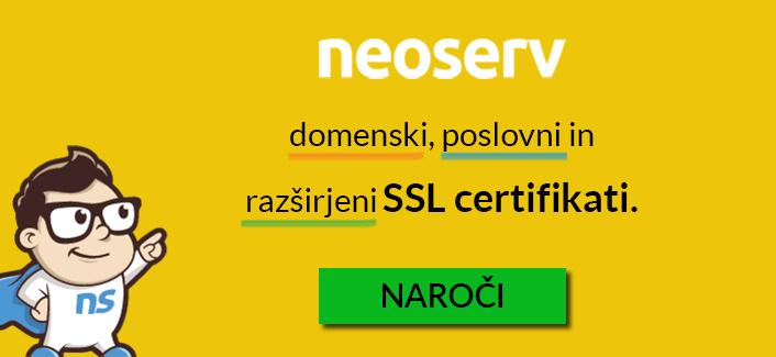 NEOSERV SSL certifikati