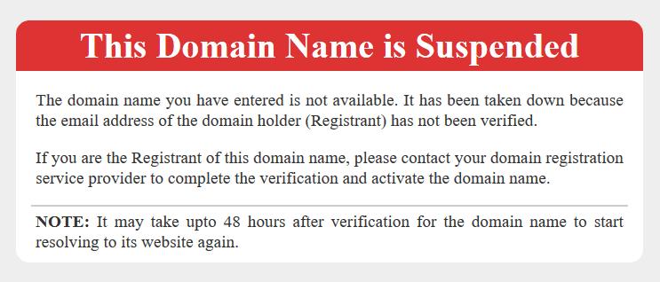 Suspendirana domena