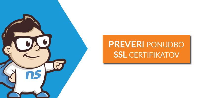 Preveri ponudbo SSL certifikatov