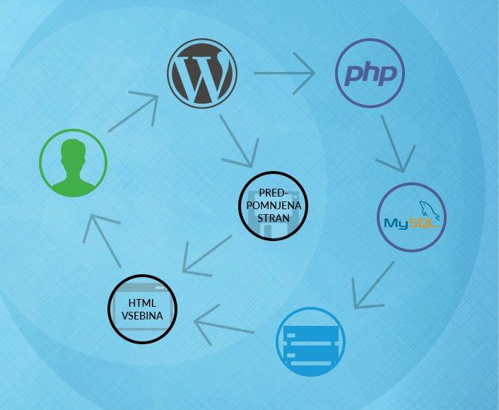 Nalaganje WordPress strani