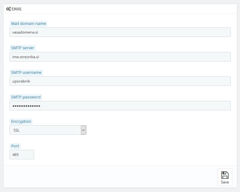 PrestaShop - nastavitev SMTP (2)