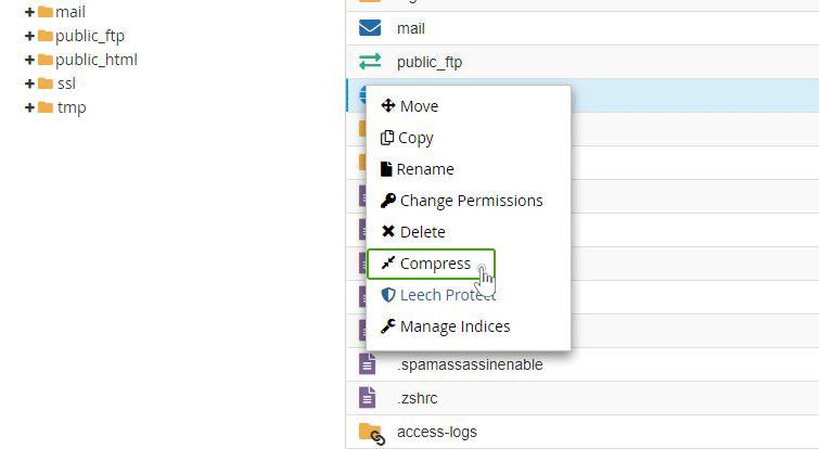 Kompresiraj datoteke (Compress)