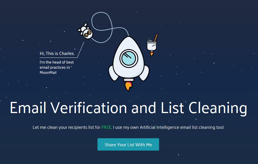 MoonMail - dodajanje e-poštnega seznama