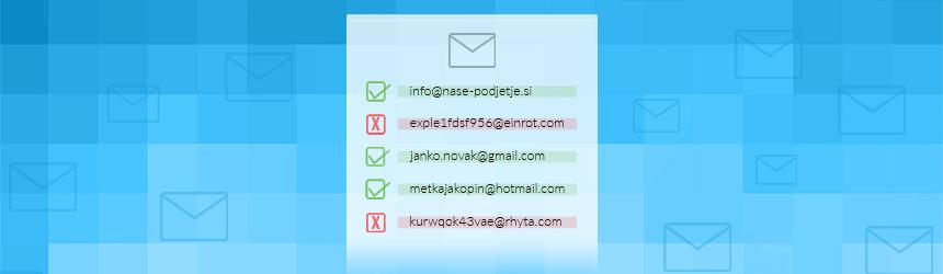 Pregled seznama e-poštnih naslovov