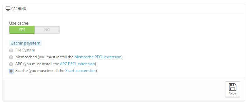 PrestaShop - Nastavite modul za predpomnjenje