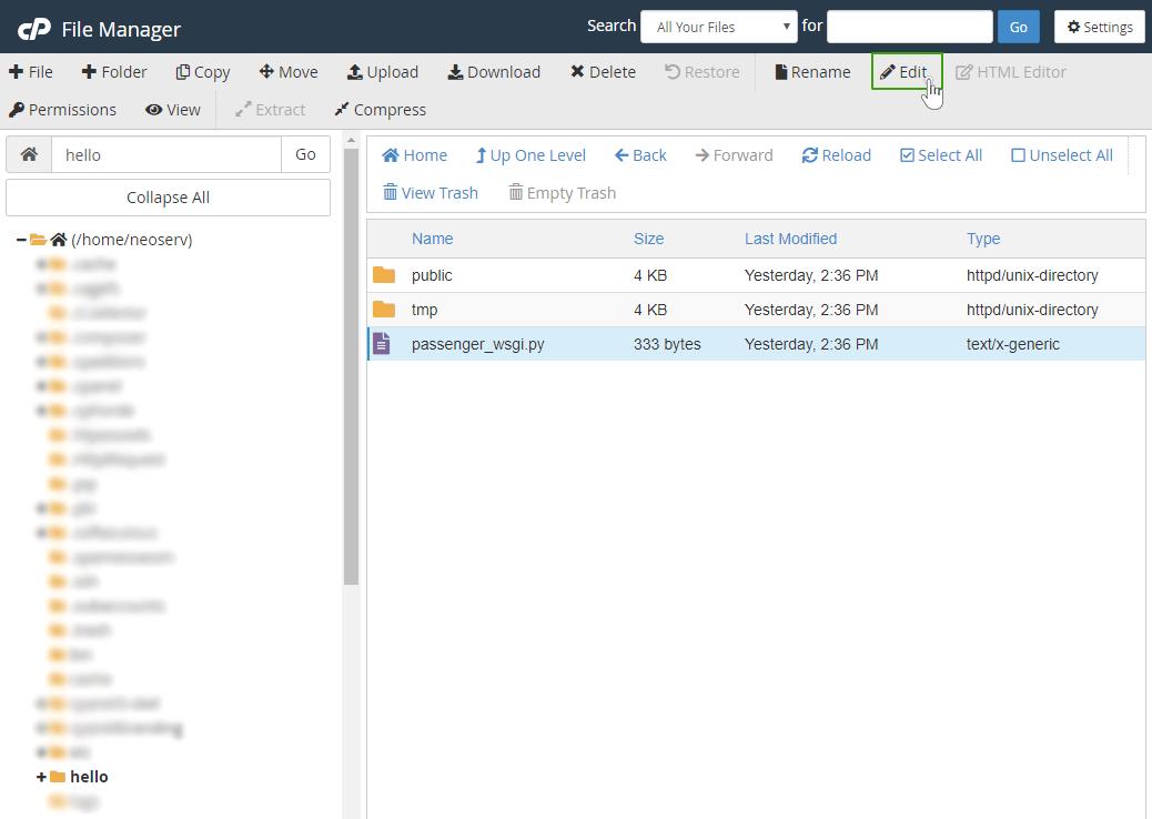 Dostop do Python datotek