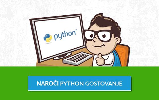 Naroči Python gostovanje