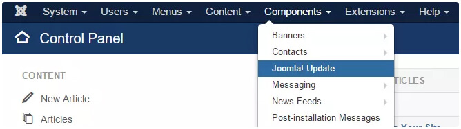 Posodobitev sistema Joomla