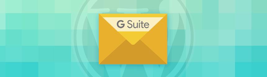 WordPress in pošiljanje e-pošte preko g Suite