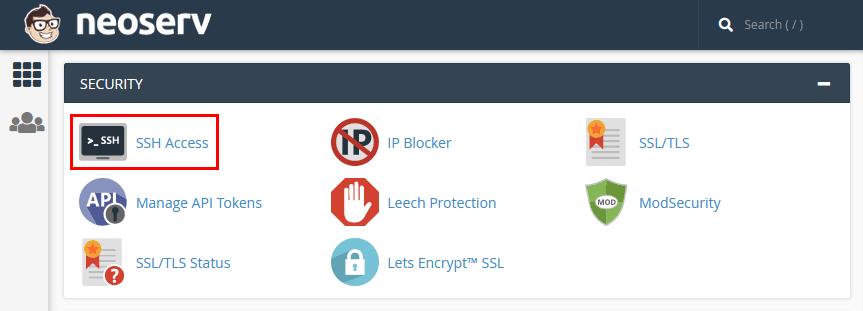 cPanel - SSH Access