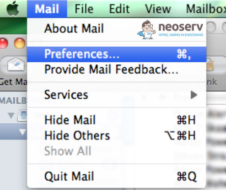 Mac Mail - Mail - Preferences...