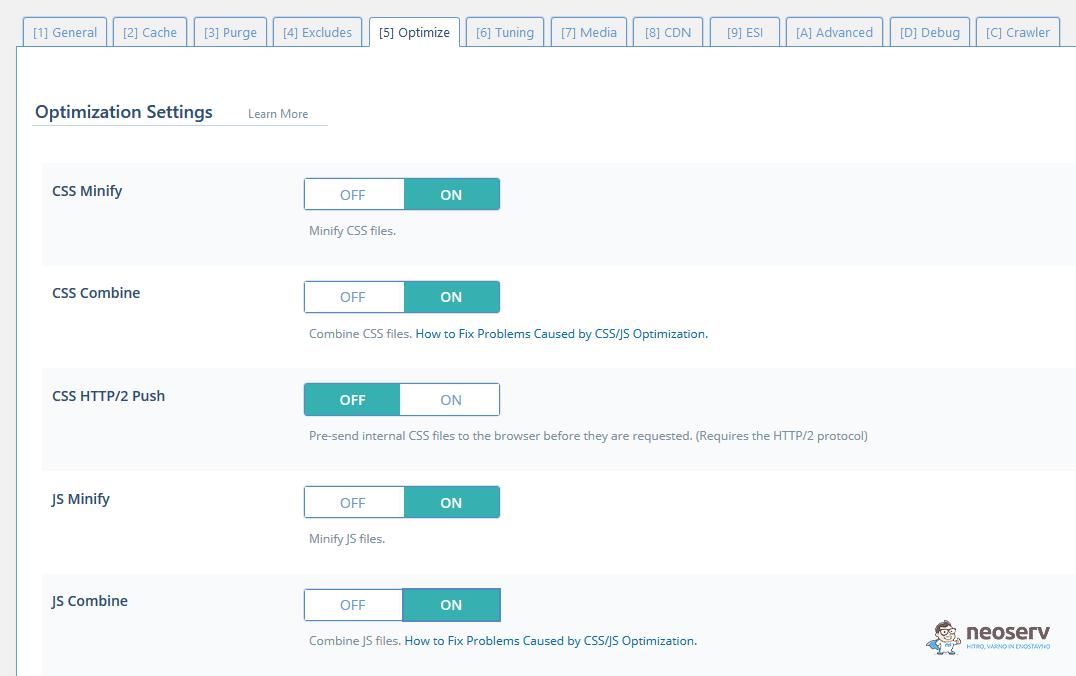LiteSpeed Cache - Optimize