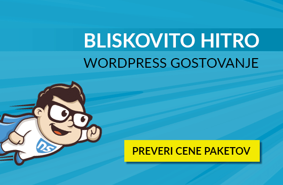 Bliskovito hitro WordPress gostovanje