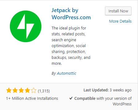Jetpack namestitev