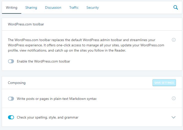 Wordpress.com nastavitve