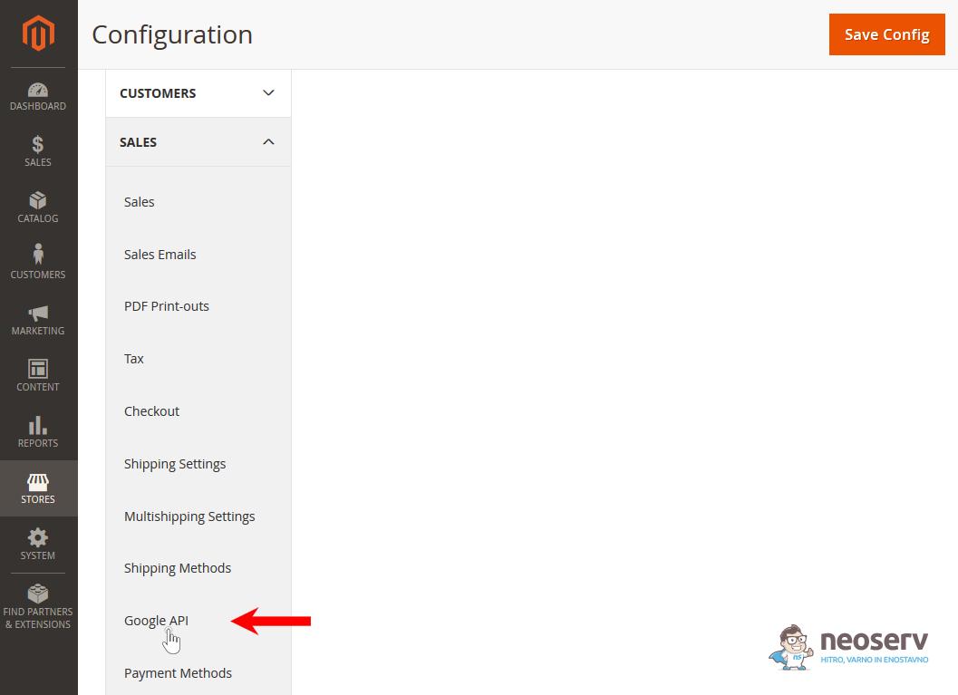 Magento 2 - SALES - Google API