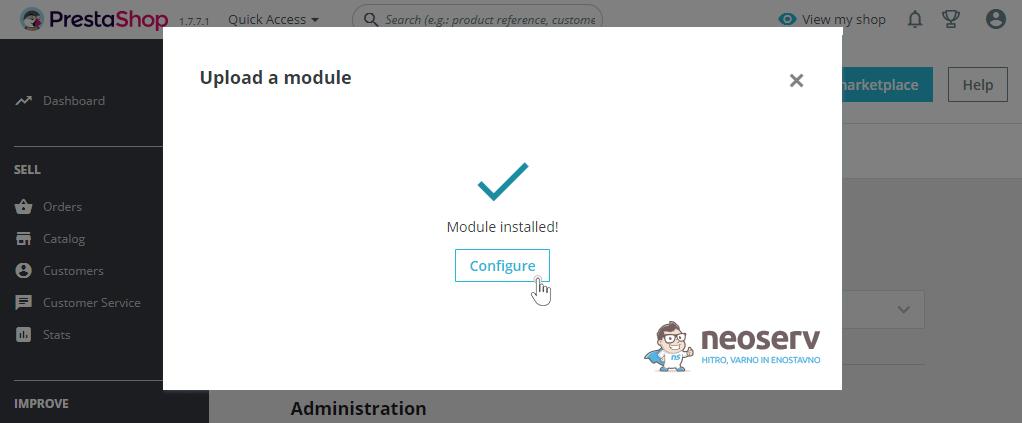 PrestaShop 1.7 - nastavitev modula