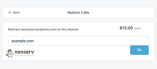 Strošek preusmeritve WordPress strani