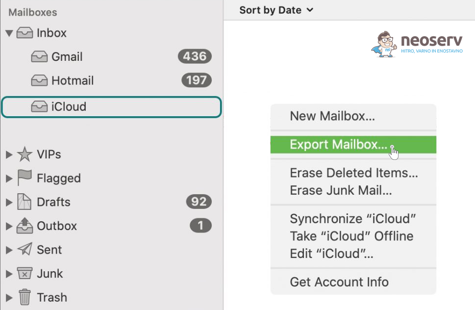 Mac Mail - Export Mailbox