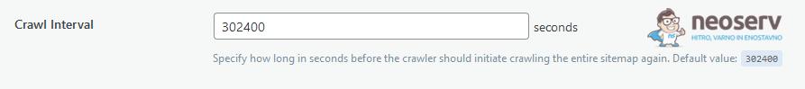 WordPress - LiteSpeed Cache - Crawler - Crawl Interval