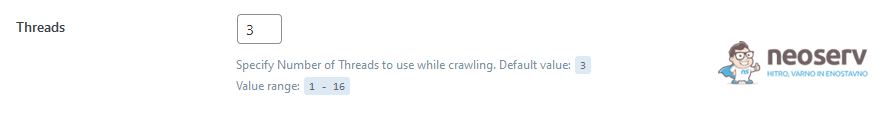 WordPress - LiteSpeed Cache - Crawler - Threads